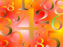 bbackground liczby Zdjęcia Stock