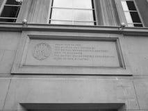 BBC开胃菜小山房子在黑白的伦敦 免版税库存照片