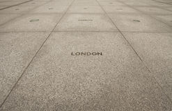 BBC. London BBC,the world's oldest national broadcasting organisation and the largest broadcaster in the world,there are many cities's name on the ground in the Royalty Free Stock Image