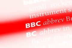Bbc. Word in a dictionary.  concept Stock Images
