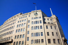 BBC Broadcasting House. Built in an art deco style in1932, in London's Regent Street, it was the original headquarters of the British Broadcasting Corporation Royalty Free Stock Image