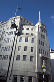 BBC Broadcasting House. Broadcasting House built in an art deco style in1932, in London's Regent Street, was the original headquarters of The British Royalty Free Stock Photography