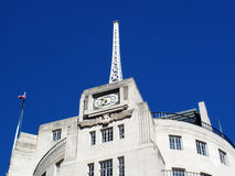 BBC Broadcasting House antenna. The antenna of the BBC Broadcasting House built in an Art Deco style in1932, in Regent Street, London, England, UK, which was the Royalty Free Stock Images