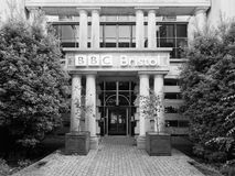 BBC Broadcasting House in Bristol in black and white Royalty Free Stock Photos