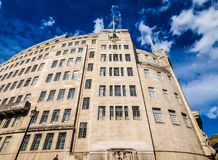 BBC Broadcasting House in London, hdr. LONDON, UK - CIRCA JUNE 2017: BBC Broadcasting House headquarters of the British Broadcasting Corporation in Portland Royalty Free Stock Images