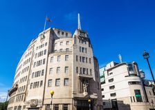 BBC Broadcasting House in London (hdr). LONDON, UK - CIRCA JUNE 2017: BBC Broadcasting House headquarters of the British Broadcasting Corporation in Portland Stock Photos