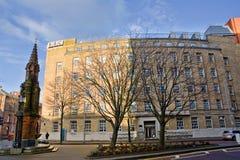 BBC building in Belfast. Belfast, United Kindom -  febrary 22, 2016: BBC building in the centre of Belfast in winter Royalty Free Stock Photos