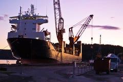 BBC Conan Cargo Ship. In dock in Halden Harbour Royalty Free Stock Photos