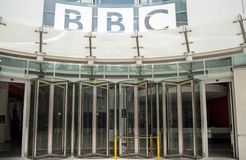 BBC Entrance, Central London Stock Photos