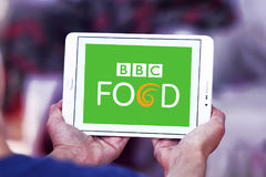 Bbc food logo. Logo of bbc food channel on samsung tablet Royalty Free Stock Photography