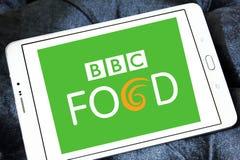 Bbc food logo. Logo of bbc food channel on samsung tablet Stock Photos