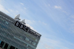 BBC Glasgow. Abstract Scene of BBC Glasgow Scotland Stock Photography