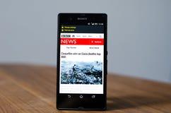 BBC-Nachrichten-APP Lizenzfreie Stockfotos