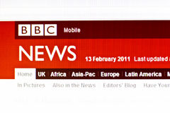 BBC NEWS. Website displayed on computer screen Stock Photography