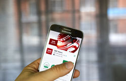 BBC News on Android phone Royalty Free Stock Photo