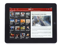 BBC News App for iPad Royalty Free Stock Photography