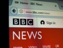 BBC News UK. LONDON, UK - CIRCA JULY 2017: British home page of the BBC News web site Stock Image