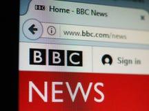 BBC News UK. LONDON, UK - CIRCA JULY 2017: British home page of the BBC News web site Royalty Free Stock Photo
