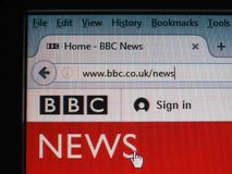 BBC News UK. LONDON, UK - CIRCA JULY 2017: British home page of the BBC News web site Royalty Free Stock Photo