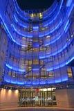 BBC night entrance Stock Photo