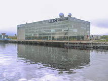 BBC Scotland. GLASGOW, SCOTLAND, UK - SEPTEMBER 19: The BBC Scotland tv studios from where the XX Commonwealth Games 2014 will be broadcast worldwide on Stock Photo