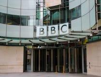 BBC som bygger i London royaltyfria bilder