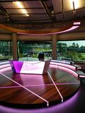 BBC studio set. All England Lawn Tennis and Croquet Club. Wimbledon, United Kingdom. royalty free stock photo
