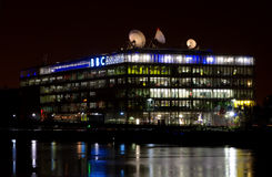 BBC Studios in Glasgow at night. BBC Studios in Glasgow, Scotland, at night Stock Photography