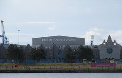 BBC Wales. Cardiff Bay, Wales Royalty Free Stock Images