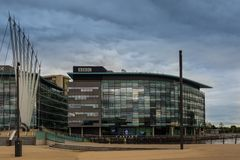 BBCkontorsbyggnad i Manchester Royaltyfri Bild