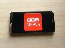 BBCnieuws app stock foto