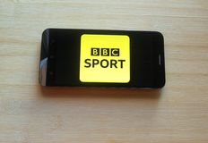 BBCsport app stock fotografie