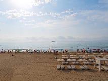 Bbeautiful sandy beach in Alicante. Spain. royalty free stock photos