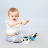 Bbeautiful weinig baby Royalty-vrije Stock Foto's