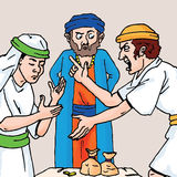 A Bíblia - a parábola do empregado Unmerciful Imagens de Stock Royalty Free