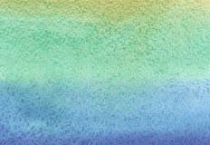 Bblue-turkos och gräsplanvattenfärgbakgrund Royaltyfri Bild