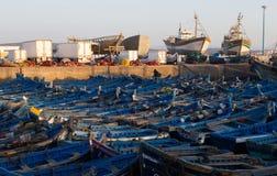 Bboats de la pesca en puerto Imagen de archivo