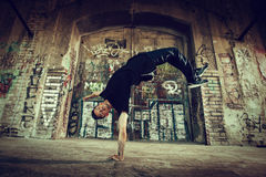 BBoy handstand Royalty Free Stock Photos