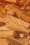 bbq剪切火大袋木头 免版税库存图片