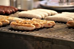 bbq多味腊肠-香肠,食物的图象 库存图片
