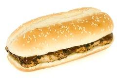 bbq快餐肋骨三明治 免版税库存图片