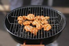 bbq烤的乳房鸡 免版税图库摄影