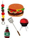 BBQ烤肉 库存例证