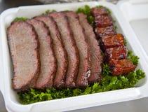 BBQ牛的胸部肉 库存照片