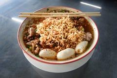 bbq食物马来西亚面条猪肉 免版税库存照片