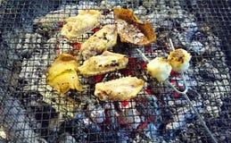 BBQ έτοιμα τρόφιμα κρέατος στοκ εικόνες
