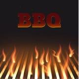 Bbq κάγκελα eps 10 πυρκαγιάς Στοκ Εικόνα