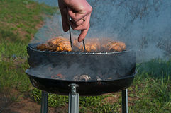 BBQ κοτόπουλου Στοκ Εικόνες