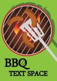 bbq μαγείρεμα Στοκ Εικόνα