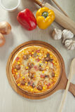 BBQ πίτσα Στοκ Εικόνες